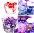 transparent scented gel decorative candle, candles