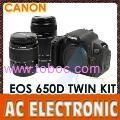 Canon EOS 650D Digital Camera with 18-55mm II & 55-250mm II Twin Lens